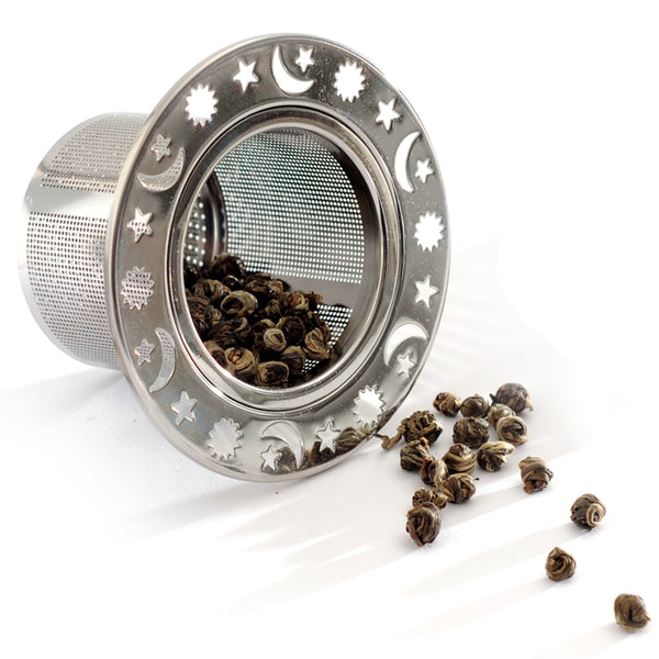 Celestial Laser Etched Tea Infuser with Herbs