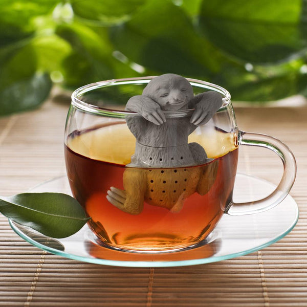 Fred Slow Brew Sloth Tea Infuser in teacup