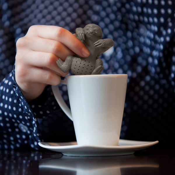 Fred Slow Brew Sloth Tea Infuser with teacup