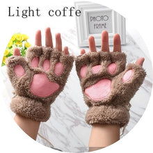 Load image into Gallery viewer, Fingerless Plush Paw Gloves