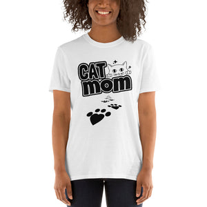 "Womens "" CAT MOM "" T-SHIRT"