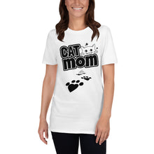 "Load image into Gallery viewer, Womens "" CAT MOM "" T-SHIRT"