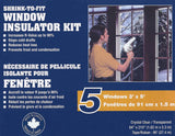 Climaloc  Glazing Film Kit for 5 Windows