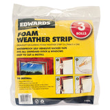 Foam Weather Strips - 3 Pack