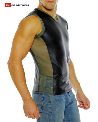 MAVERICK V-Neck Front Sleeveless Tee