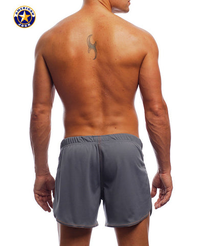 "A J 11"" Workout Short w/Built-In Jockstrap"