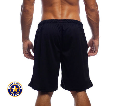 "A J 17"" Workout Short w/Built-In Jockstrap"