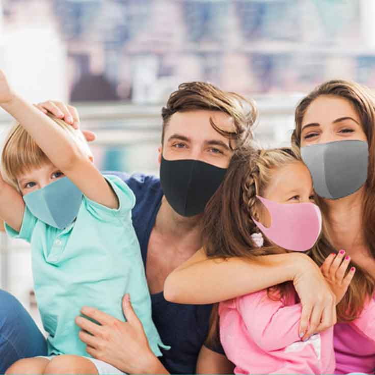 Comfortable and washable face mask for kids. Easy breathing and odor resistant face mask.