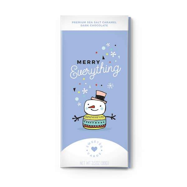 Merry Everything Holiday Card & Chocolate Bar Inside