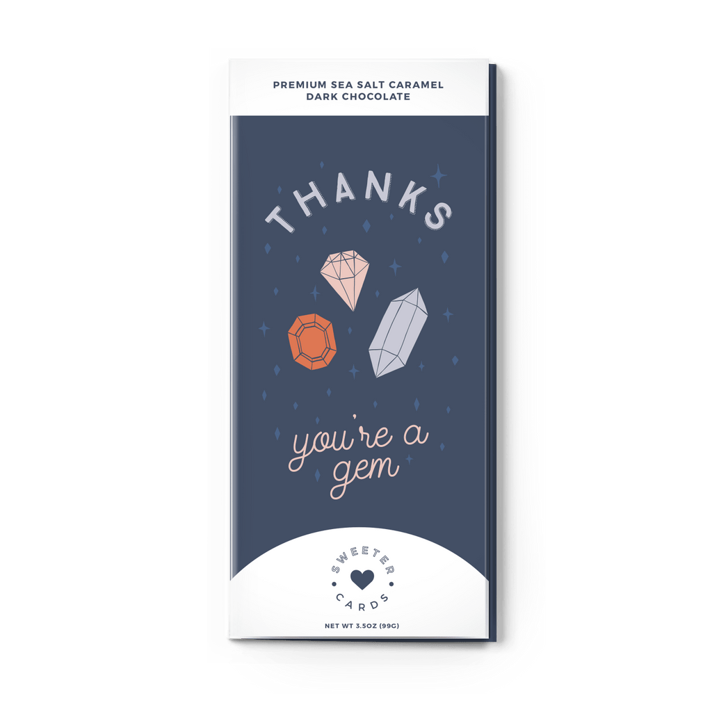 Thank You Card with Chocolate Bar Inside - ZaZoLi