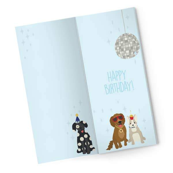 Dog Lover Birthday Card  with Chocolate Inside