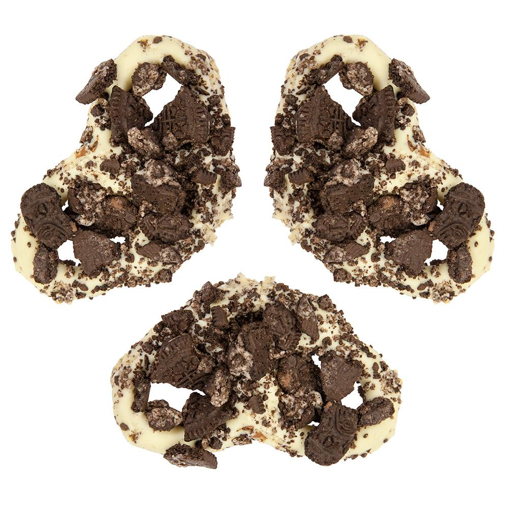 Cookies and Cream White Chocolate Covered Pretzel - ZaZoLi