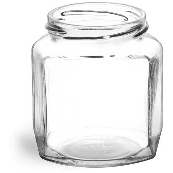 Oval Hexagon Jar (9 oz)