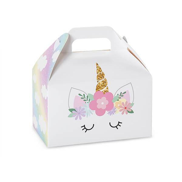 Unicorn Party Favor Gable Box - ZaZoLi