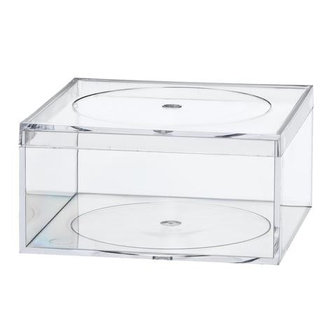 "Acrylic Clear Flush Lid 4"" Amac Containers"