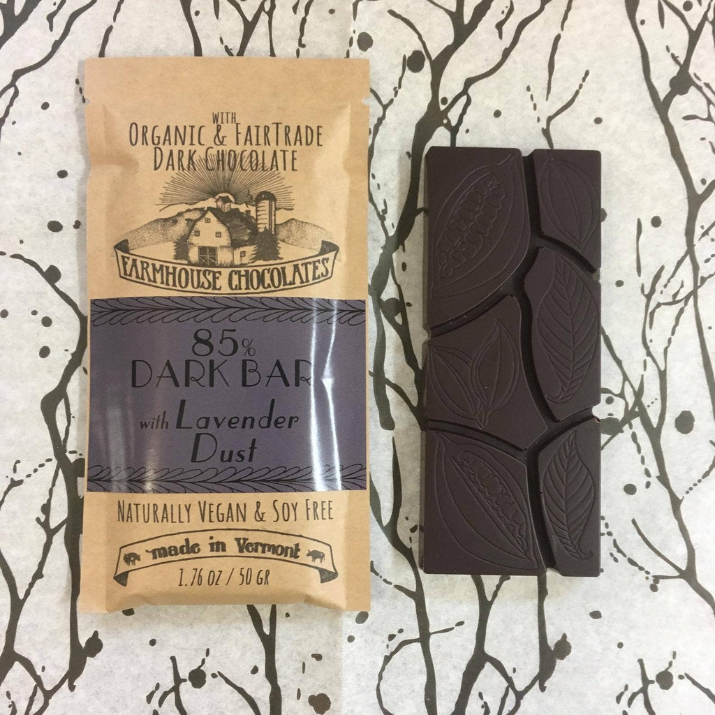 85% Organic Fair Trade Chocolate Bar with Lavender