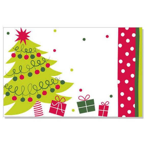 Jolly Christmas Tree Enclosure Card - ZaZoLi