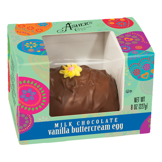 Milk or Dark Chocolate Buttercream Vanilla Egg (4 oz.)