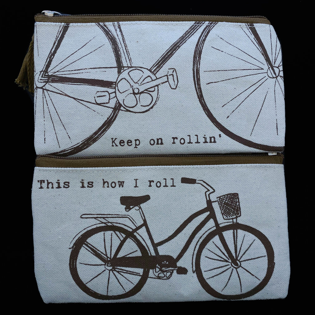Bicycle Cotton Zipper Cases
