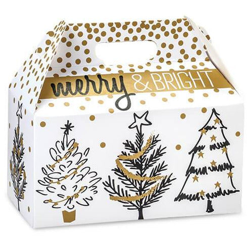 Golden Holiday Trees Gable Box - ZaZoLi