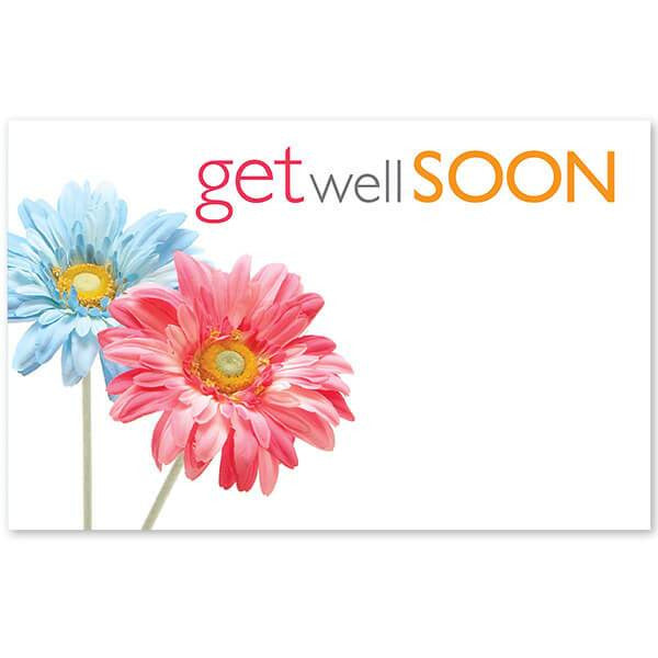 Get Well Soon Daisies Enclosure Card