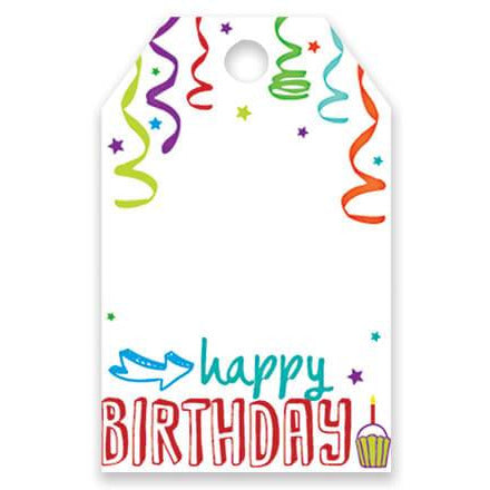 Happy Birthday Balloons Gift Tag