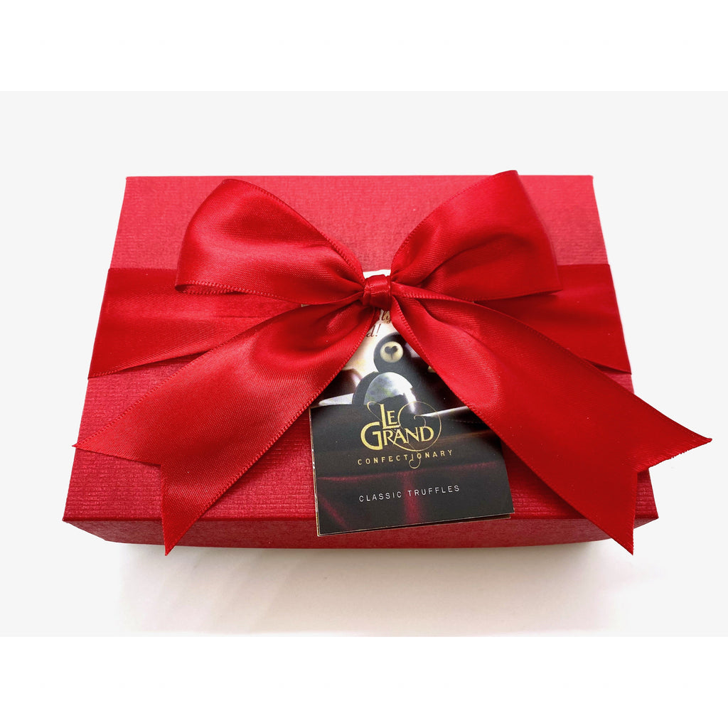 Fancy Red Truffle Gift Box - 6 Count Le Grand Assorted Truffles