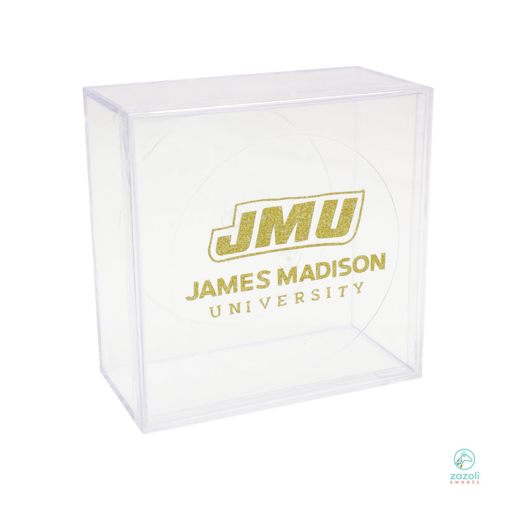 "College Pride Acrylic Clear Flush Lid 4"" Amac Containers"