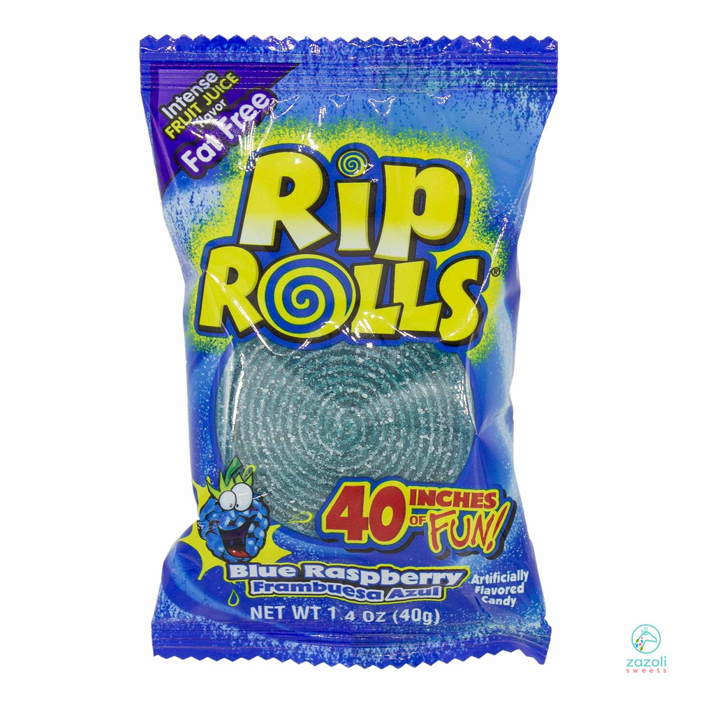 Sour Blue Raspberry Rip Roll - ZaZoLi