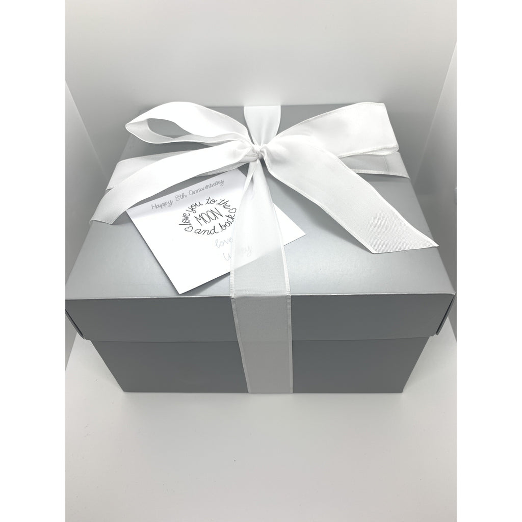 Metallic Silver Gift Box