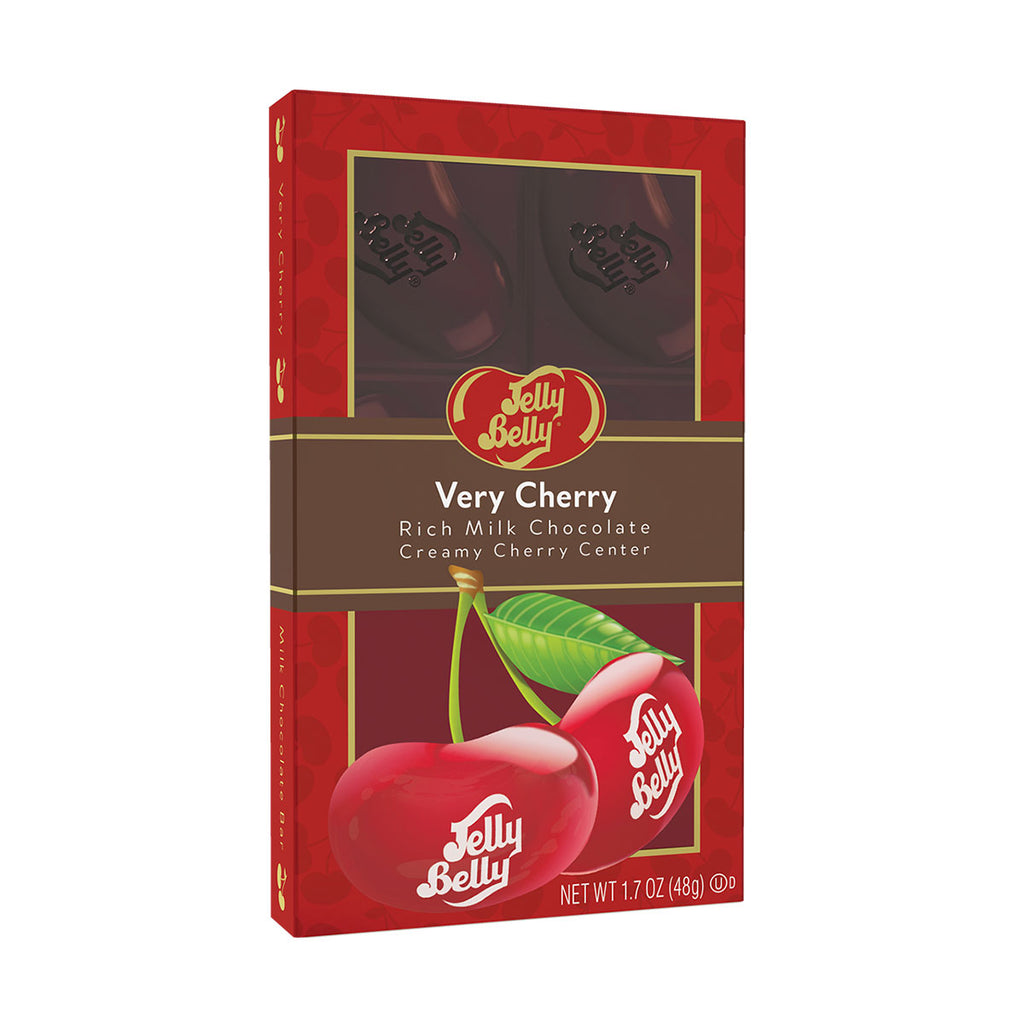 Jelly Belly® Very Cherry Filled Chocolate Bar
