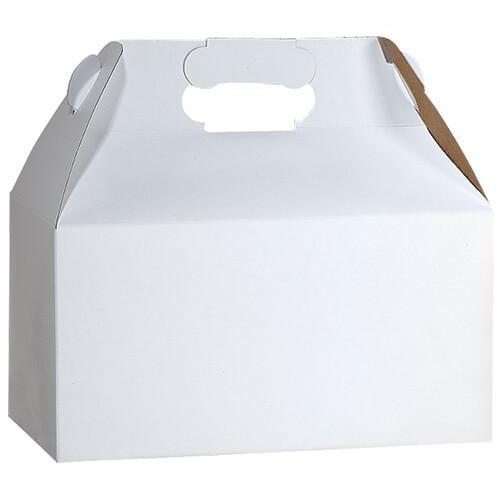 White Recycled Gable Box - Large