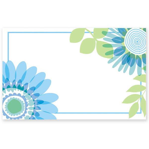 Ombre Flowers Enclosure Card