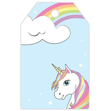 Unicorn and Rainbow Printed Gift Tag - ZaZoLi