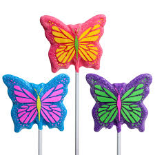 Sanded Butterfly Lollipop