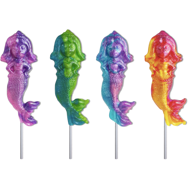 Glitter Swirl Mermaid Lollipop