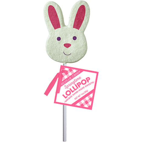Sanded Bunny Face Lollipop