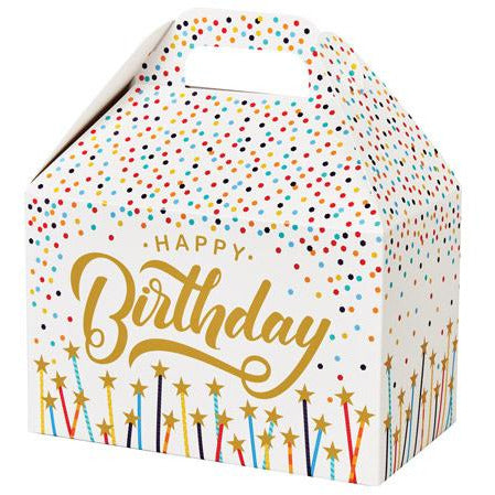 Happy Birthday Stars & Candles Gable Gift Basket