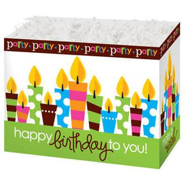 Birthday Party Candles Gift Basket