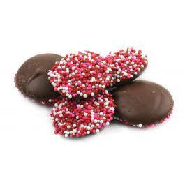 Mini Dark Chocolate Red & White Nonpareils