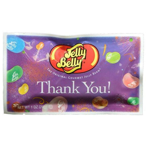 Jelly Belly® Thank You Assorted Jelly Beans Bag (1 oz) - ZaZoLi