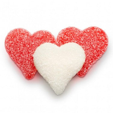 Sour Cherry & Strawberry Banana Gummi Hearts