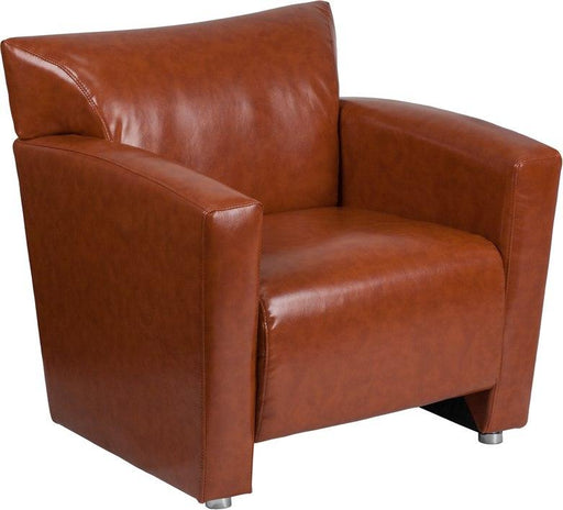 Flash Furniture 222-1-CG-GG HERCULES Majesty Series Cognac Leather Chair