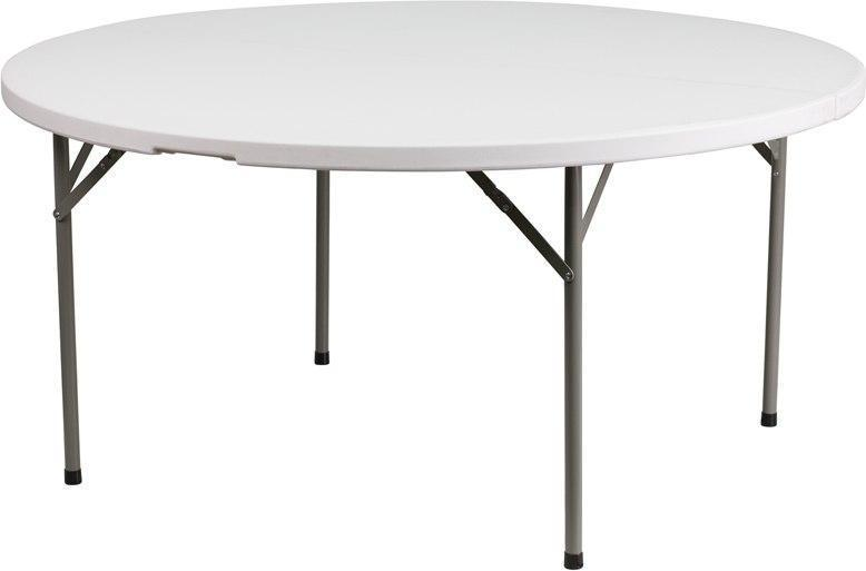 Flash Furniture DAD-YCZ-1-GW-GG 60'' Round Granite White Plastic Folding Table