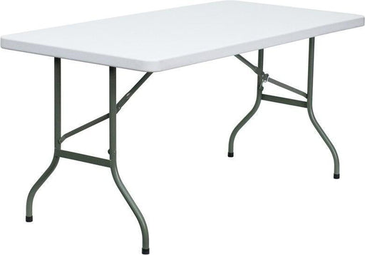 Flash Furniture DAD-YCZ-152-GG 30''W x 60''L Granite White Plastic Folding Table