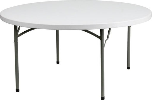 Flash Furniture DAD-YCZ-152R-GW-GG 60'' Round Granite White Plastic Folding Table