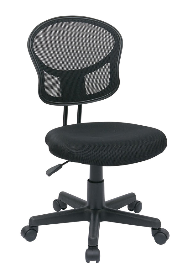 OSP Designs Mesh Task chair in Black