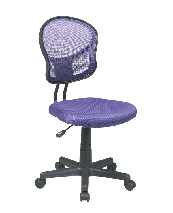OSP Designs Mesh Task chair in Purple