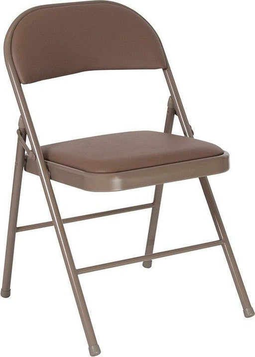 Flash Furniture HA-F003D-BGE-GG HERCULES Series Double Braced Beige Vinyl Folding Chair