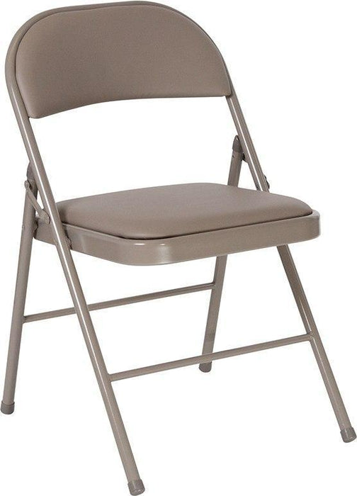 Flash Furniture HA-F003D-GY-GG HERCULES Series Double Braced Gray Vinyl Folding Chair